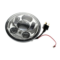 "Hoglights HOG-4057CA-CHR LED 5-3/4"" Headlight Inserts w/Parker Chrome for Harley & Indian Scout"