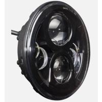 "Hoglights HOG-5570BA-H Headlight 7"" w/Halo 80w LED Black for Indian Chief Classic & Dark Horse"