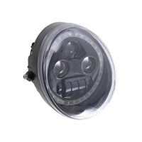 "Hoglights HOG-5570VRP-H 5-3/4"" LED HeadLight Insert w/Halo Black for VRSCDX 12-17/VRSCF 02-17"