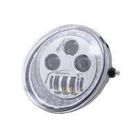 "Hoglights HOG-5570VRP-HC 5-3/4"" LED HeadLight Insert w/Halo Chrome for VRSCDX 12-17/VRSCF 02-17"