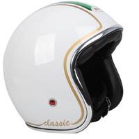 RXT A611C Classic Open Face Helmet w/No Studs White/Italian Flag