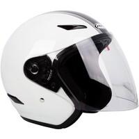 RXT A218 Metro Helmet Retro White/Dark Silver