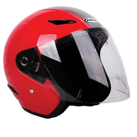 RXT A218 Metro Helmet Retro Red/Light Silver