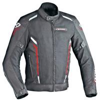 Ixon Cooler Textile Jacket Black/White/Red