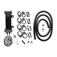 Jagg JAG-750-1000 Vertical Frame-Mount Oil Cooler Kit Deluxe Dyna Softail Sportster