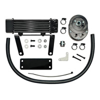 Jagg JAG-750-1290 Horizontal Low-Mount Oil Cooler Kit 6 Row Softail 2000-14 Custom