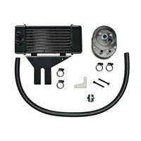 Jagg JAG-750-2500 Horizontal Low-Mount Oil Cooler Kit Black 10 Row 1991-UP FXD Dyna