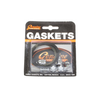James Gaskets JGI-65324-83-KW1 Exhaust Gasket Kit Big Twin'84up Screamin' Eagle Type w/Chrome Acorn Nuts (Kit)