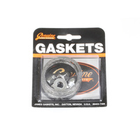James Gaskets JGI-65324-83-KWG1 Exhaust Gasket Kit Big Twin'84up Tapered Type w/Chrome Acorn Nuts (Kit)