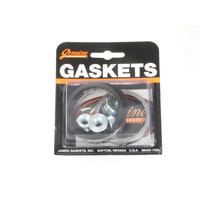 James Gaskets JGI-65324-83-KWG2 Exhaust Gasket Kit Big Twin'84up Tapered Type w/Flange Nuts (Kit)