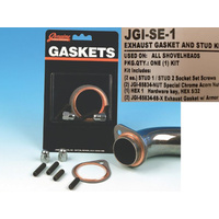 James Gaskets JGI-SE-1 Exhaust Stud Kit w/Studs, Acorn Nuts & Gaskets Big Twin'66-84 (Kit)