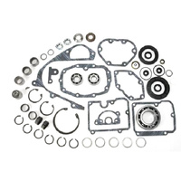 Jims Machine JM-1020 Transmission Rebuild Kit 84-90 Big Twin 5  Speed Gaskets/Bearings