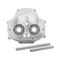 Jims Machine JM-2340 Transmission Trap Door Big Twin'07up w/OEM 6 Speed (inc FXD'06 Wide Bearing Upgrade Silver