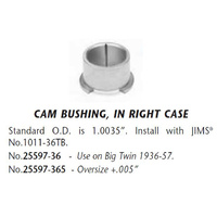 Jims Machine JM-25597-36 Cam Crankcase End Bush Big Twin'36-57