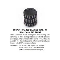 Jims Machine JM-3999 Conrod Bearing & Cage Set Big Twin'41-99 Steel Cage Steel Cage