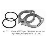 "Jims Machine JM-721 Manifold Spacer Kit w/Intake port size of 1.640-1.740"" Big Twin 06up"