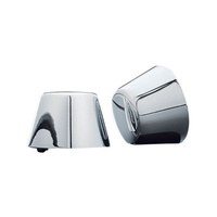 Kuryakyn K1201 Front Axle Covers Chrome Softail/Dyna/FLH/XL (Pair)(See Listing)