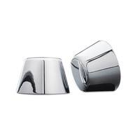 Kuryakyn K1213 Axle Nut Covers Chrome Touring/Dyna Models (Pair)(See Listing)