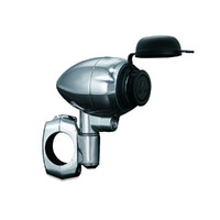 "Kuryakyn K1476 Power Point Electric 12V Chrome 1-1/4"" Bar Clamp Charge Phone GPS"