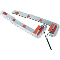 Kuryakyn K1564 Lower Saddlebag Accents Chrome Red LED Touring 93-Up (Pair)