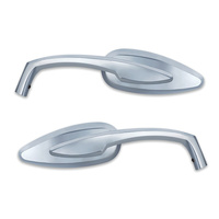 Kuryakyn K1707 Teardrop Mirrors Chrome (Pair)