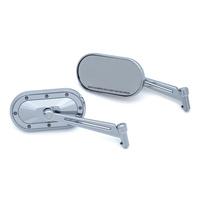 Kuryakyn K1736 Heavy Industry Mirror Chrome (Pair) for Indian/Victory