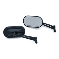 Kuryakyn K1737 Heavy Industry Mirror Satin Black (Pair) Indian/Victory
