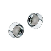 Kuryakyn K2107 Deep Dish Bezel w/Smoke Lens w/OEM Indicators '00up H-D Models (Pair)