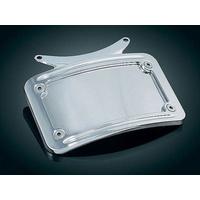 Kuryakyn K3162 Curved License Plate Frame Chrome for K2098/9 & K5405