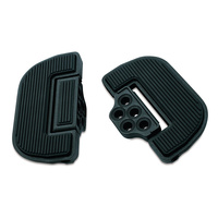 Kuryakyn K4357 Ribbed Folding Boards for Driver or Passenger Wrinkle Black