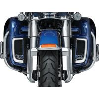 Kuryakyn K5063 Tracer LED Fairing Lower Grills Chrome for Touring 2014 w/Fairing Lowers