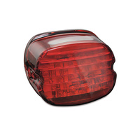 Kuryakyn K5466 Low Profile ECE LED Taillight Red with License Illumination Red (ECE Approved)