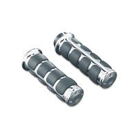 Kuryakyn K6205 ISO Grips for Dual Cable Throttle Chrome (Pair) Models 82-16
