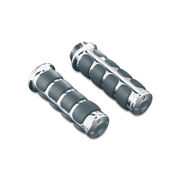 Kuryakyn K6205 ISO Grips for Dual Cable Throttle Chrome (Pair) Models 82-16