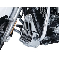 Kuryakyn K6417 Precision Oil Cooler Cover Chrome for Milwaukee-Eight FLH 17up