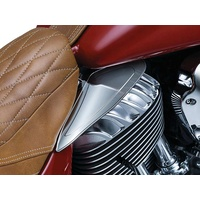 Kuryakyn K7181 Saddle Shields Reflective Smoke for Indian 14-up