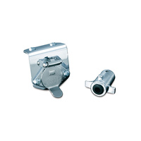 Kuryakyn K7659 5-Pin Receptacle Kit Chrome