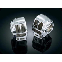 Kuryakyn K7807 Switch Housings Chrome FLH'96up