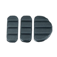 Kuryakyn K8081 Replacement Pads for 8029 & 4025 Black (3 piece)