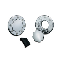Kuryakyn K8309 Vented Flush Mount Gas Cap Chrome 1982-UP