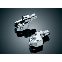 Kuryakyn K8810 Tapered Peg Adapters Chrome for Yamaha (Pair)