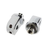Kuryakyn K8818 Splined Peg Adapters Chrome for Honda, Suzuki & Yamaha (Pair)