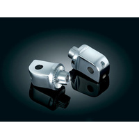 Kuryakyn K8826 Splined Adapter Mounts Chrome for Kawasaki (Pair)
