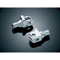 Kuryakyn K8840 Front Rear Tapered Footpeg Mounts Chrome for Triumph