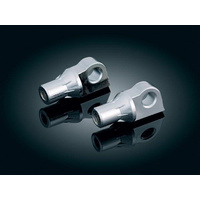 Kuryakyn K8880 Tapered Male Mount Peg Adapters Chrome Serrated (Pair)