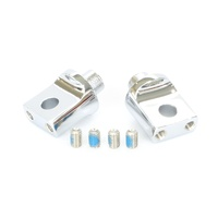 Kuryakyn K8883 Non-Pivoting Splined Male Mount Adapters Chrome (Pair)