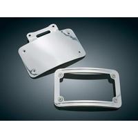 Kuryakyn K9157 Curved License Plate Frame Chrome Fits Slimline Low-Profile Tombs Tail Lights