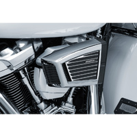 Kuryakyn K9369 Classic Faceplate Satin Black & Machined for all Hypercharger ES Models