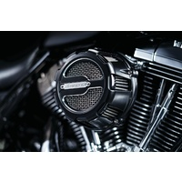 Crusher K9885 Maverick Air Cleaner Satin Black FLH'08up w/Electronic Throttle & all Big Twin'06up w/58mm Throttle Body