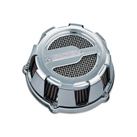 Crusher K9890 Maverick Air Cleaner Chrome FLH 08-Upw/Electronic Throttle & all Big Twin 06-Upw/58mm Throttle Body